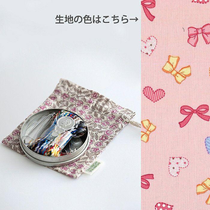 プチモチーフのソーイング缶(リボン&ハート)<P1>
