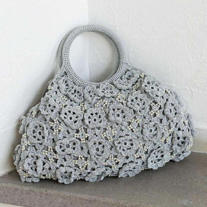 シャイニーローズバッグ(編み物 材料セット)