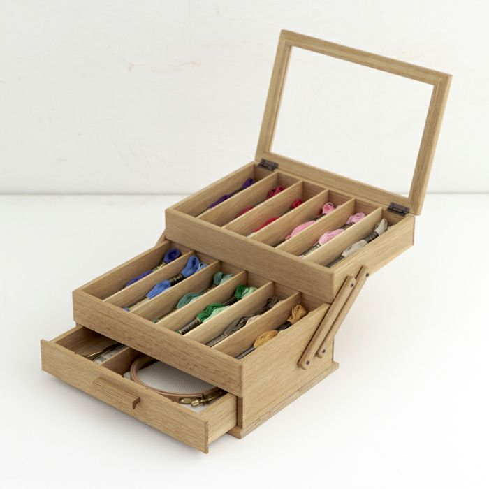 スライド式刺しゅう糸ボックス