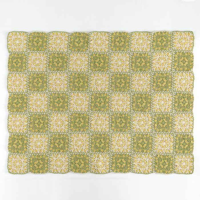 ミモザのブランケット(編み物 材料セット)